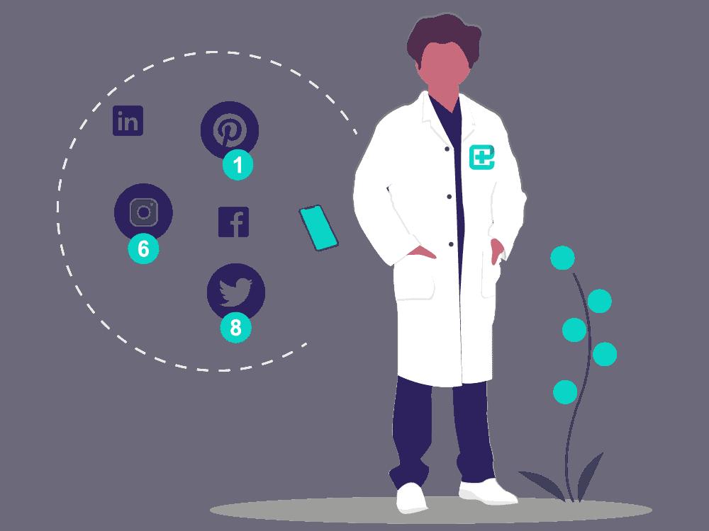 logo reseaux sociaux reseau social professionnel wkdo agence web sante pour les medecins chirurgiens dentistes etablissements de sante